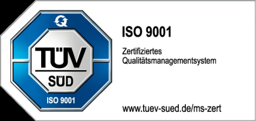 TÜV Zertifikat ISO9001